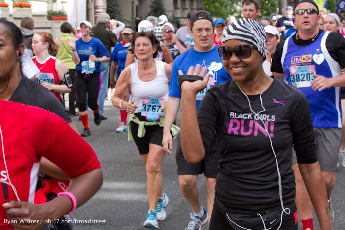 Michael Baran at the Broad Street Run 2013
