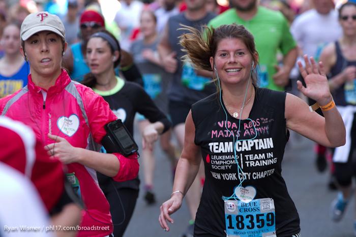Stephanie Jacoson at the Broad Street Run 2013