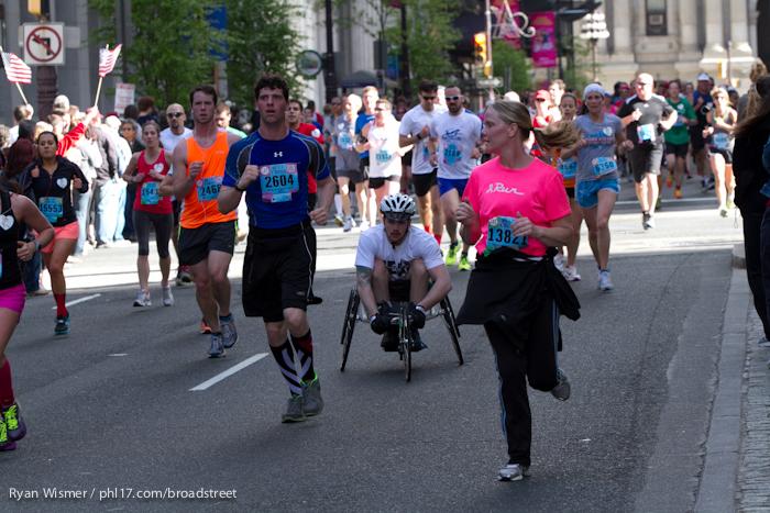 Amy Platt, Chris Drissel, Joshua Magurczek, Margaret Ries at the Broad Street Run 2013