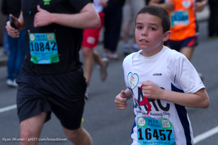 Nicholas Medina at the Broad Street Run 2013