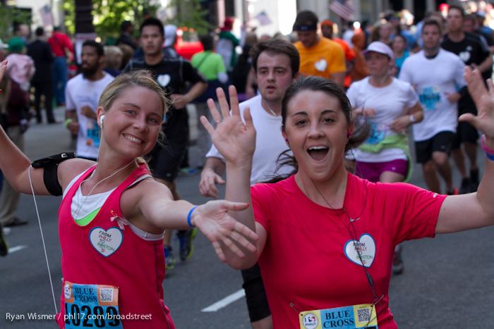 Allison Ehret at the Broad Street Run 2013