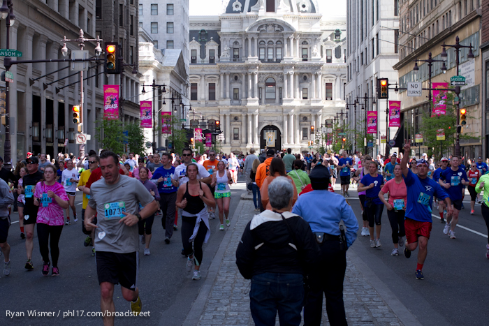Ian Kiernan, Chris Prophet at the Broad Street Run 2013