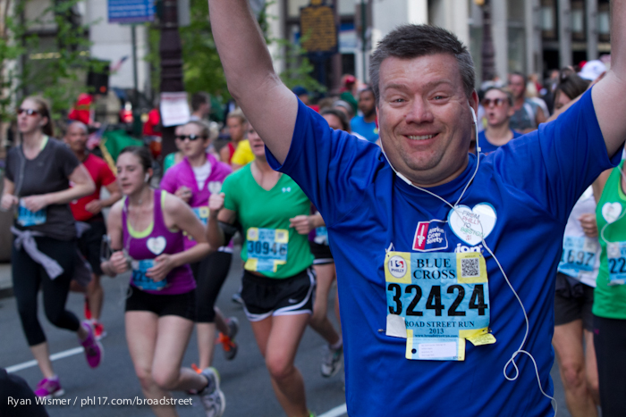 William Ziegler at the Broad Street Run 2013