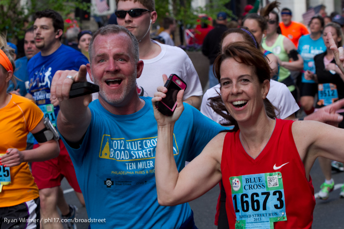 Janet Esler at the Broad Street Run 2013