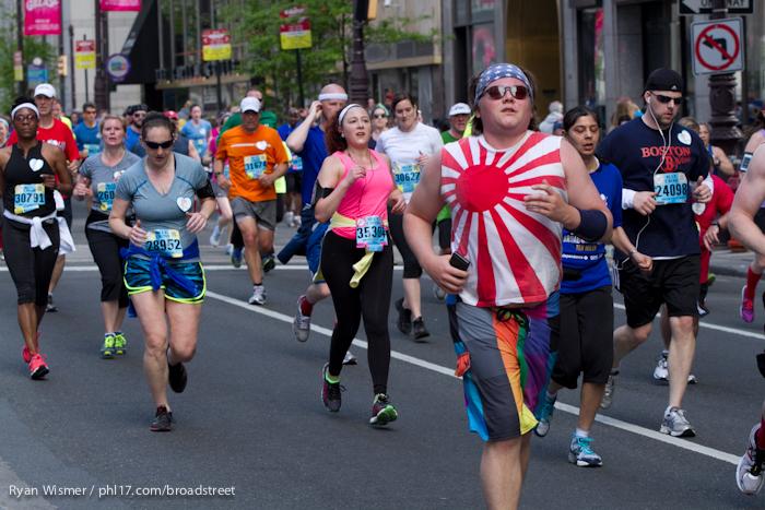 Lynette Hudgins, Jennifer Matsumoto, Amy Messina, Nicholas Lipka at the Broad Street Run 2013