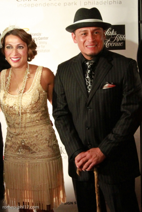 Carlos Ruiz and his date at Jimmy Rollins Harlem Nights 2013.