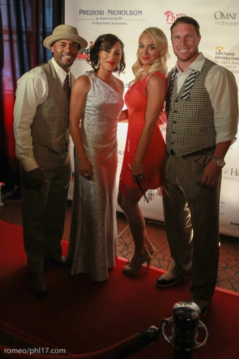 Johari and Jimmy Rollins and Brooke and Laynce Nix at Jimmy Rollins Harlem Nights