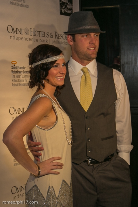 Jeremy Horst and his date at Jimmy Rollins Harlem Nights