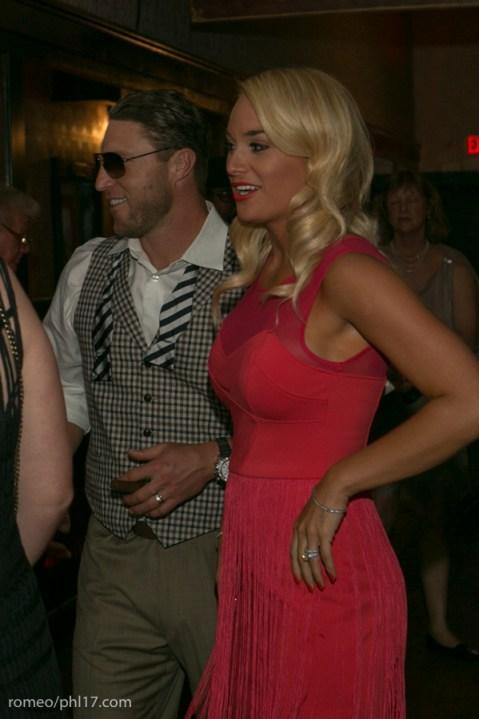 Laynce and Brooke Nix at Jimmy Rollins Harlem Nights