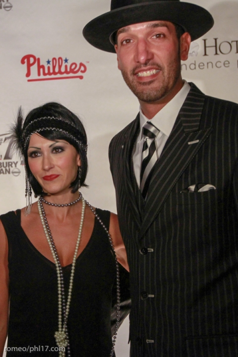 Mike and Shelley Adams at Jimmy Rollins Harlem Nights 2013