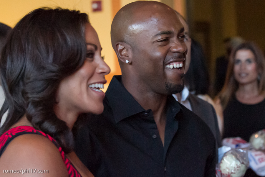"""Johari Rollins and Jimmy Rollins at the """"Stand Up For Literacy"""" Charity Event"""