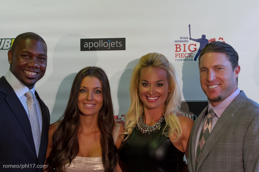"Ryan Howard, Krystle Howard, Brooke Nix and Laynce Nix at the ""Stand Up For Literacy"" Charity Event"