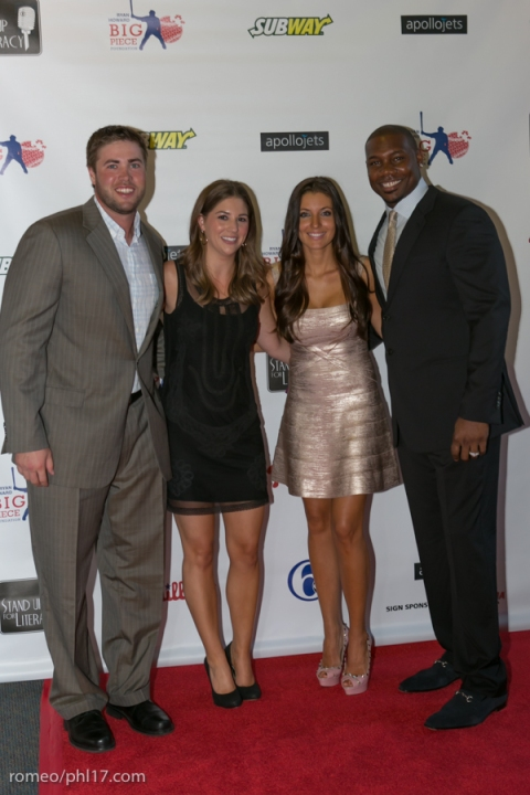 """Darin Ruf, Krystle Howard and Ryan Howard at the """"Stand Up For Literacy"""" Charity Event"""