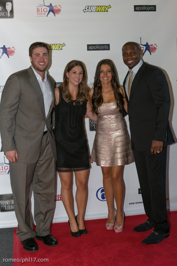 "Darin Ruf, Krystle Howard and Ryan Howard at the ""Stand Up For Literacy"" Charity Event"