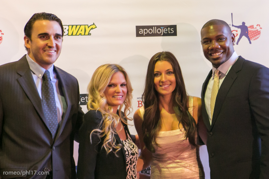 "John Lannon, Maryanne Lannon, Krystle Howard and Ryan Howard at the ""Stand Up For Literacy"" Charity Event"