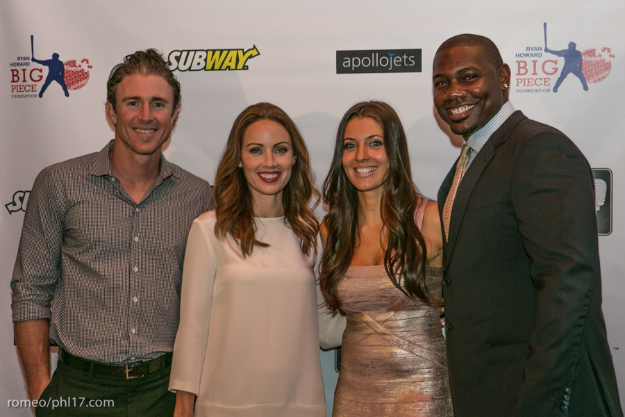 "Chase Utley, Jen Utley, Krystle Howard & Ryan Howard at the ""Stand Up For Literacy"" Charity Event"