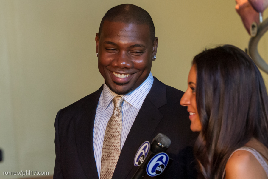 "Ryan Howard and Krystle Howard at the ""Stand Up For Literacy"" Charity Event"