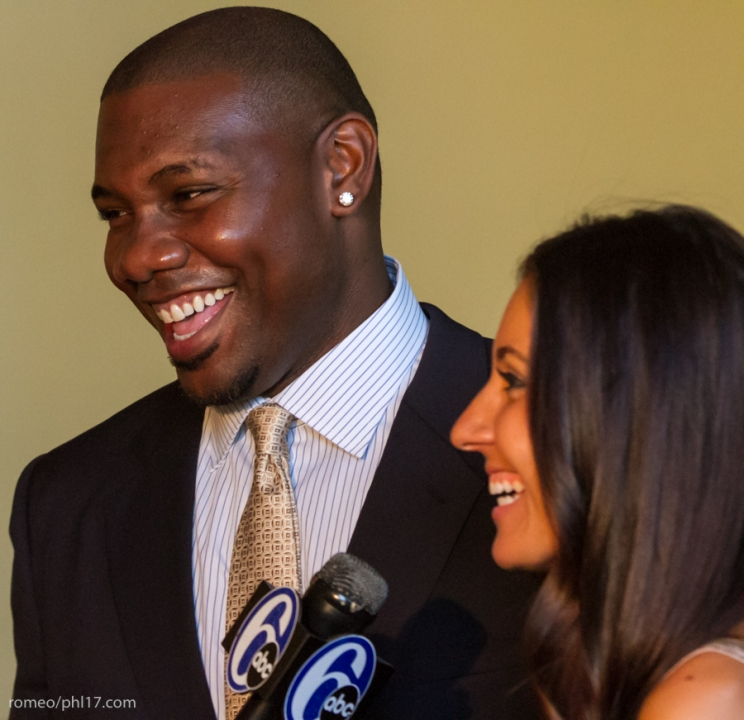 """Ryan Howard and Krystle Howard at the """"Stand Up For Literacy"""" Charity Event"""