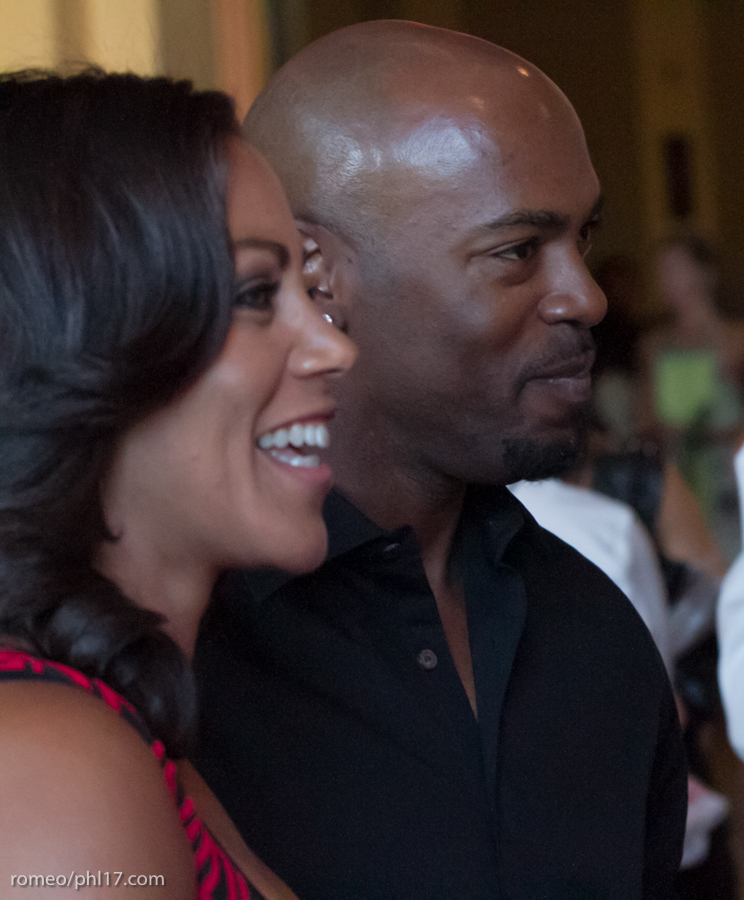 "Johari Rollins and Jimmy Rollins at the ""Stand Up For Literacy"" Charity Event"