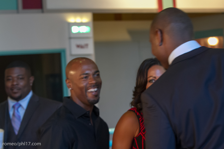"Jimmy Rollins and Johari Rollins at the ""Stand Up For Literacy"" Charity Event"