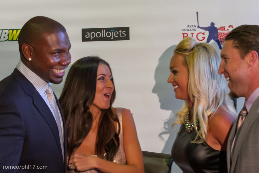 "Ryan Howard, Krystle Howard and Brooke Nix at the ""Stand Up For Literacy"" Charity Event"