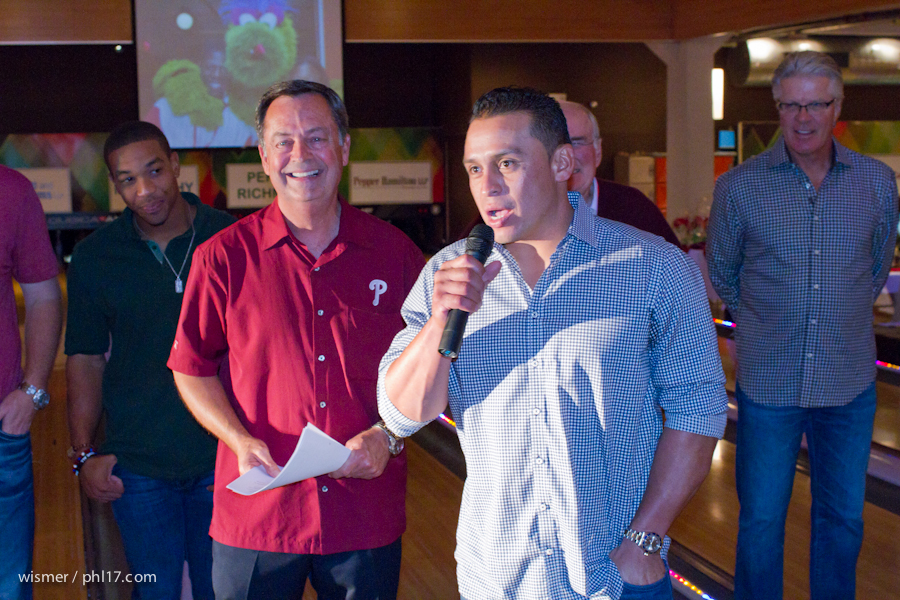 Carlos Ruiz and the Phillies Bowling for Charity-9645