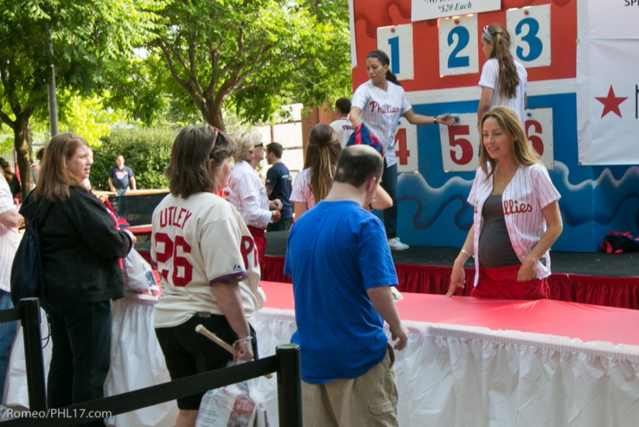 Johari Rollins and Jen Utley at Phillies Phestival 2014