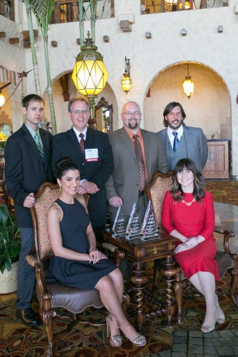 Travis Brower, Ryan Wismer, William Lehan, Francesca Ruscio, Kristen Hatfield and Tony Romeo at 2014 PAB Awards
