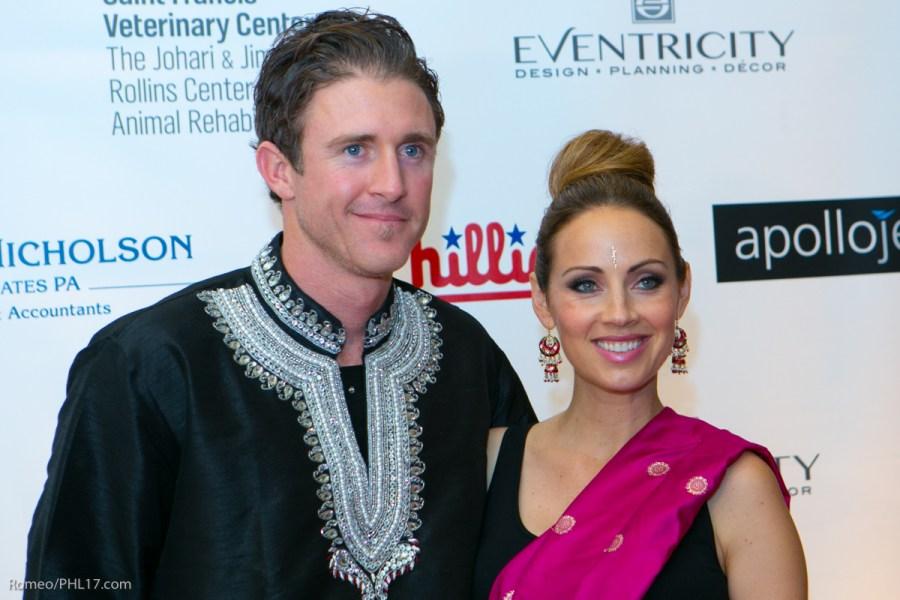 Chase Utley and Jen Utley at Bollywood Bash
