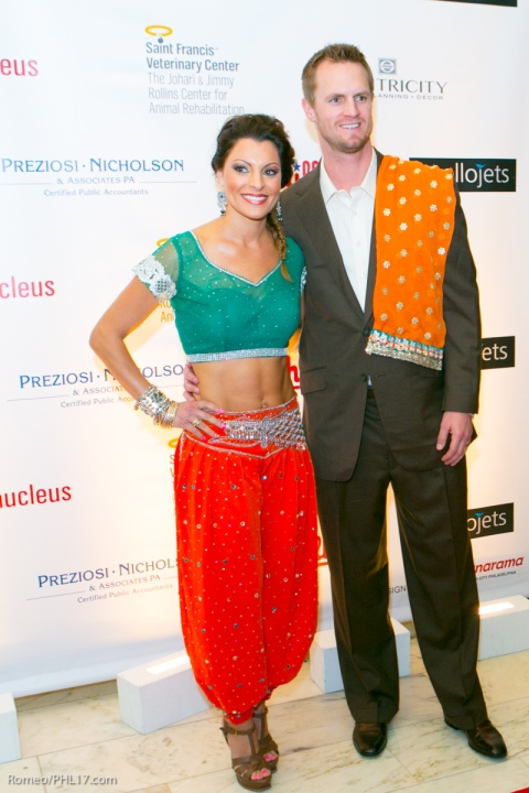 Kyle Kendrick and Stephenie LaGrossa at Phillies Bollywood Bash