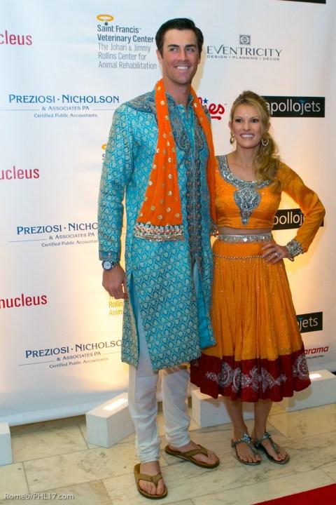 Cole Hamels and Heidi Hamels Bollywood Bash