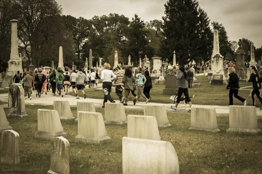 Sepia Tone Laurel Hill Cemetery RIP 5K